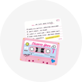 Cassette Card Set_Pink Pop