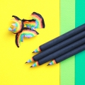 Rainbow Pencils (������ ���� 5 set) - black