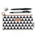Pattern Pencil Case-Black Triangle