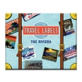 스타일리시한 테마별 빈티지 스티커 -LB-38155 Riviera Travel