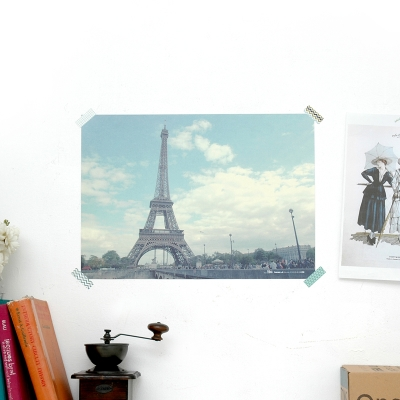 Bonjour PARIS Welcome to LONDON POSTER - A3