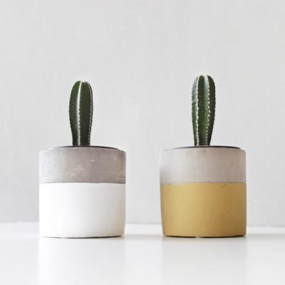 컬러 시멘트 화기