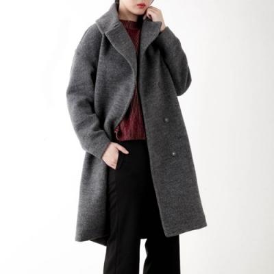 big lapel over coat