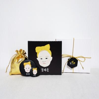 아기 일러스트 초상화 / 팝아트초상화 - 캔버스 액자 (15cmx15cm)