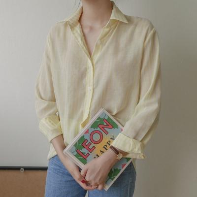 스트라이프 쿨 셔츠 (2-COLORS)