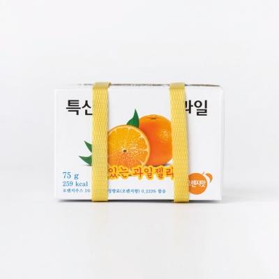 [매일리 스낵] 특산 과일 박스 젤리 (오렌지맛)