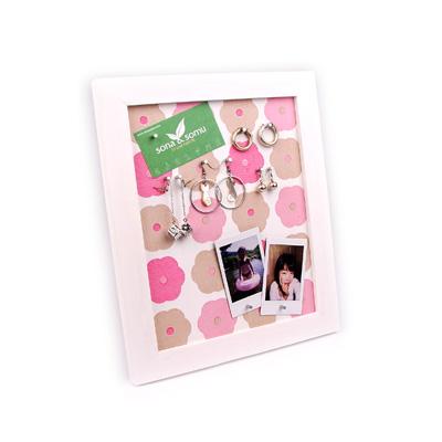 데스크자석메모판(핑크 플라워)