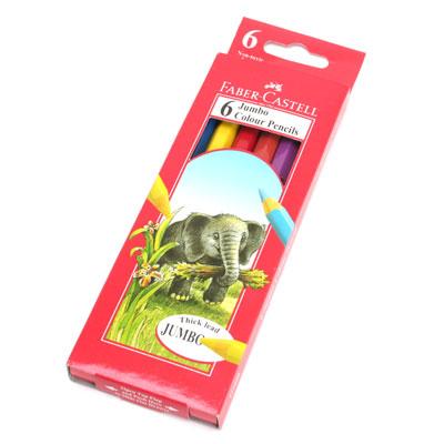 파버카스텔 점보 색연필 6색