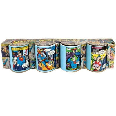 Superman Mini Mugs (Set of 4) - Comic Panels