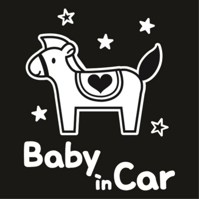 자동차스티커_메리고_baby in car