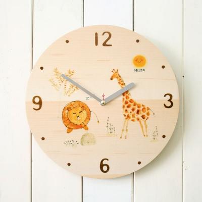 애니멀원목시계