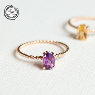 [2월 탄생석] 자수정 러브 링(silver) amethyst love ring
