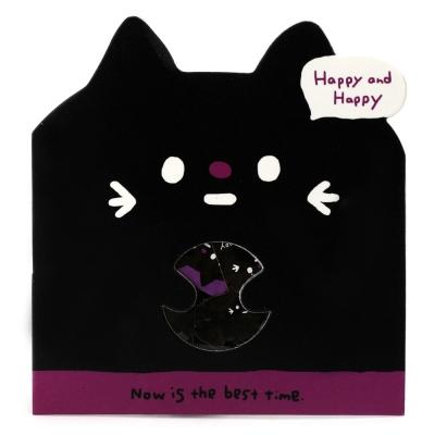 큐리아 포인트 조각 스티커-검은고양이(812541)