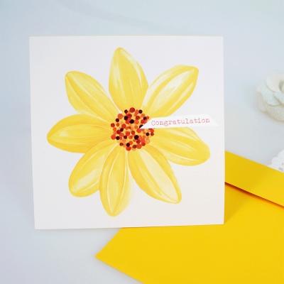 꽃 카드 'Congratulation'