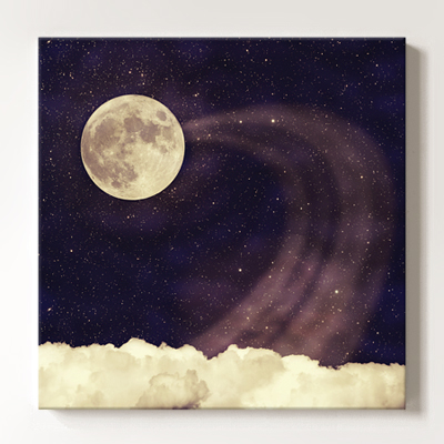캔버스액자 Vintage moon sky2