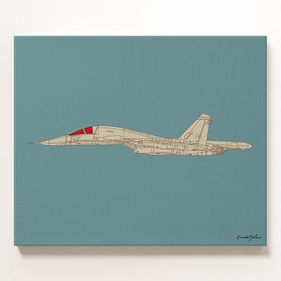 캔버스 아트 액자 Combat Plane_side 비행기
