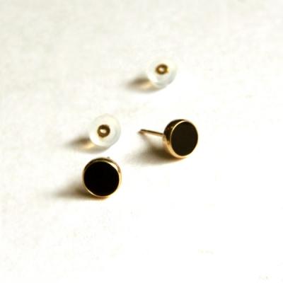 10k gold eclipse earring
