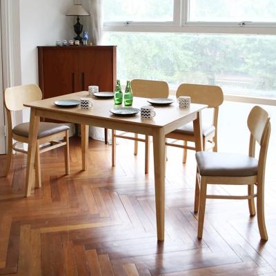 스칸디 피노 4인 식탁 세트
