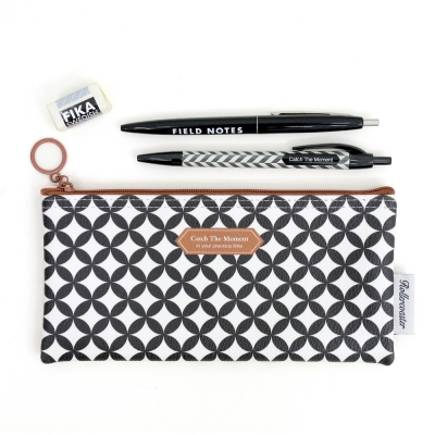Pattern Pencil Case-Black Bubble