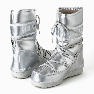MOON BOOT W.E. P.JUMP.MID -SILVER