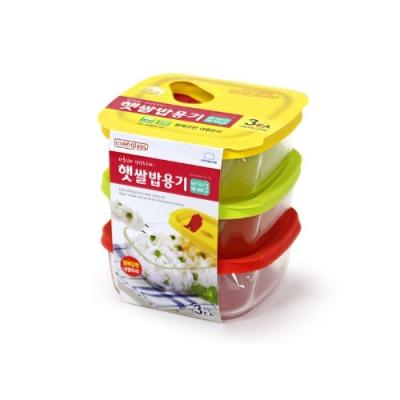 락앤락 글라스 햇쌀밥용기 320ml(3P) LLG501S3
