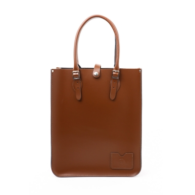 Chestnut Brown Leather Tote Bag