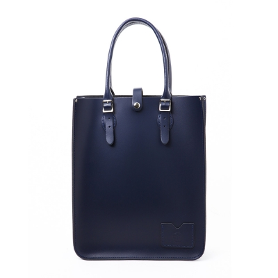 Loch Blue Leather Tote Bag
