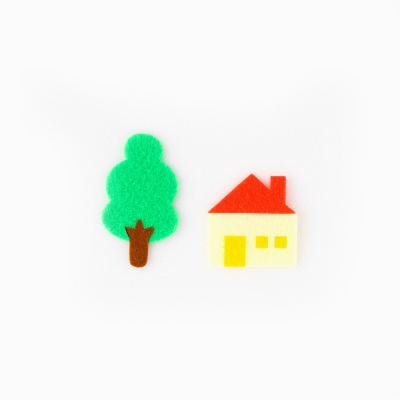 [Re:VERSE] Felt Applique - A-09 House & Tree