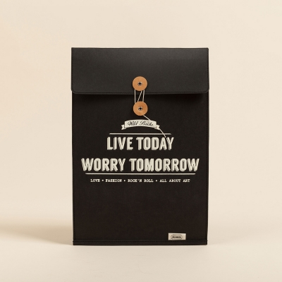Brief case & Notebook pouch (BLACK)