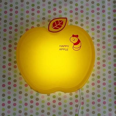 [LAMPDA] LED형 happy 애플 벽등 (옐로우)
