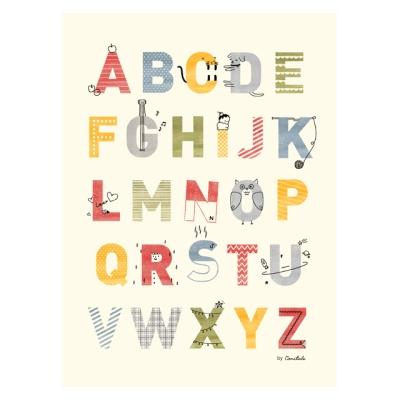 코니테일 포스터 - A.B.C (아이방꾸미기 학습벽보)