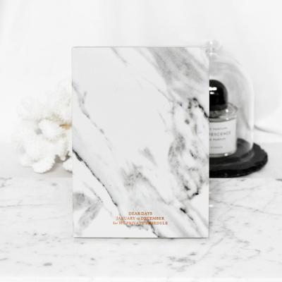 MARBLE DIARY - White marble