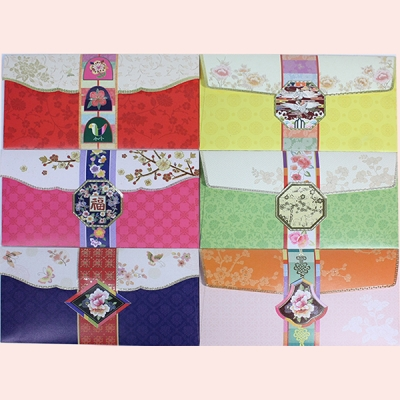 전통문양 용돈봉투 6장묶음