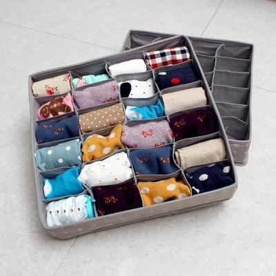 [올리빙] 크로스 속옷정리함 24+24칸