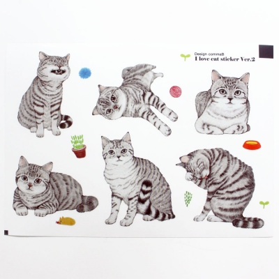 I Love Cat sticker Ver.2