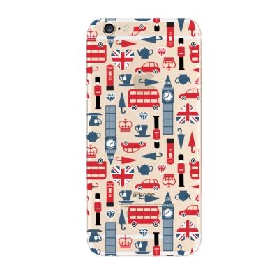 영국 패턴 디자인 아이폰6 / 6+ / 5S 투명케이스