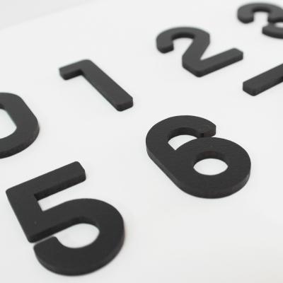 우드 디자인 숫자
