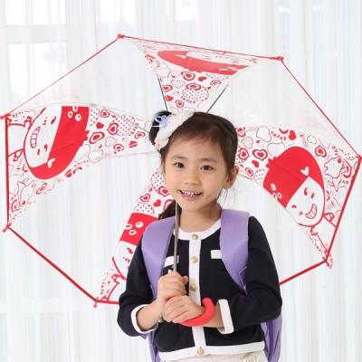 딸기 아동 투명우산 50 고급형/단체선물/아동 장우산/비닐우산