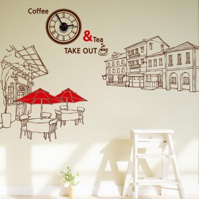 jkc073-유럽 카페의 거리_그래픽시계