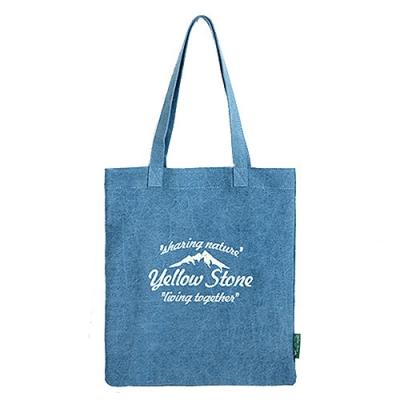 [옐로우스톤] 에코백 denim eco bag - YS2015SB 스카이블루 폰트