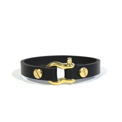 solid brass bracelet [black]