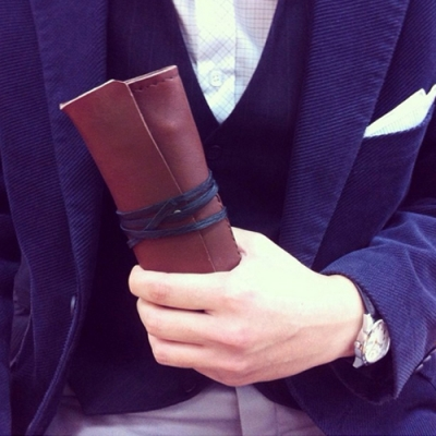 가죽 필통 Leather pencase -roll