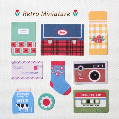DECO STICKER-Retro Miniature