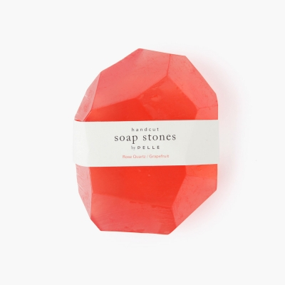 Soap Stone ROCK 12oz, Rose Quartz/Grapefruit