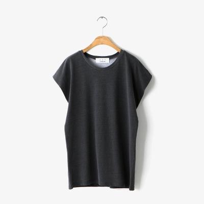 pigment washing round T-shirt