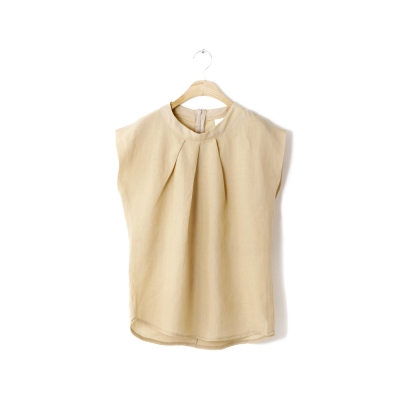 neck dart sleeveless blouse