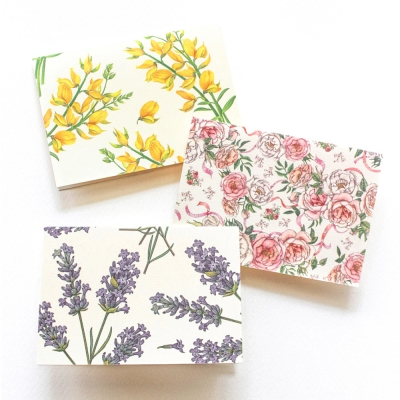 Floral decorative card