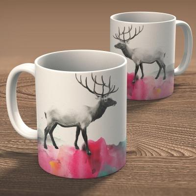 [오원이]워터컬러사슴 11온스 머그 (deer20)