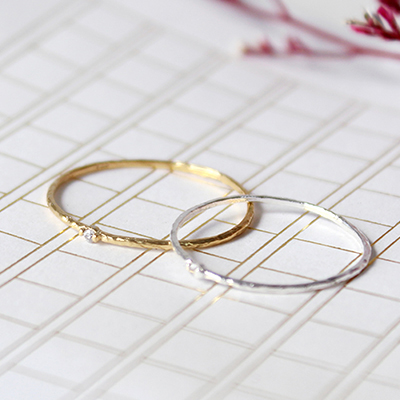 실버 실반지(2colors)silver thread ring