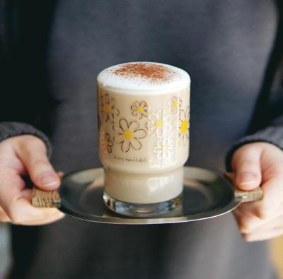커먼키친 골드에디션 # Retro Daisy short glass